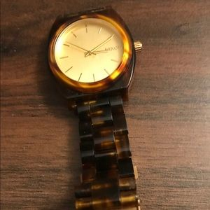 Tortoise Shell Nixon Watch